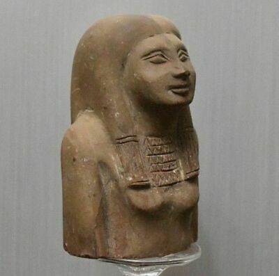 ANCIENT EGYPT ANTIQUE Egyptian stone great half statue (1500–300 BC)