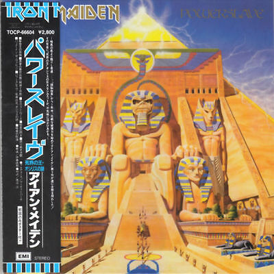 IRON MAIDEN - POWERSLAVE ( MINI LP AUDIO CD with OBI and Japanese booklets )