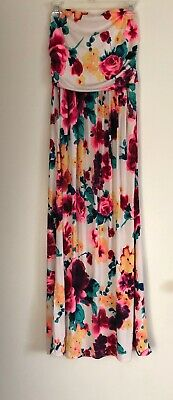 e2306013550e Women Vanilla Bay Polyester Stretch Colorful Floral Strapless Maxi Sun Dress .