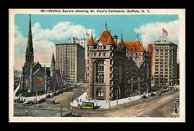 Dr Jim Stamps Us Shelton Square St Pauls Cathedral Buffalo New York Postcard