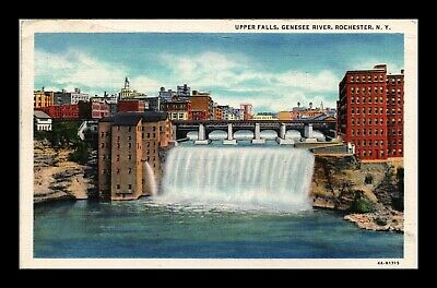 Dr Jim Stamps Us Upper Falls Genesee River Rochester New York View Postcard