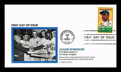 Dr Jim Stamps Us Jackie Robinson Black Heritage Baseball First Day Cover