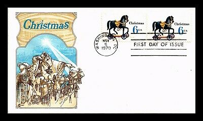 Dr Jim Stamps Us Christmas Toys Horse Fdc Cover Craft Washington Dc