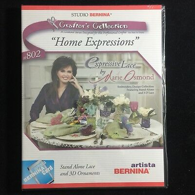 Bernina Embroidery Designs Card #802 Expressive Lace for Artista series