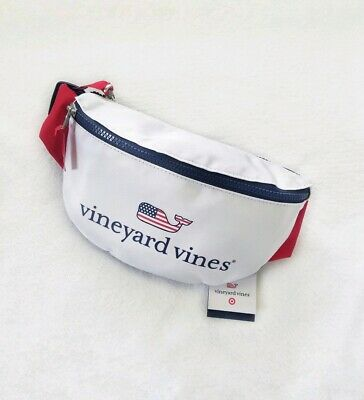 Vineyard Vines For Target Fanny Pack White Flag Whale NWT