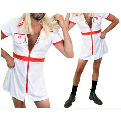 Men's Nurse Doctor Uniform Medical Cosplay Costume Outfit Role Play Fancy Dress