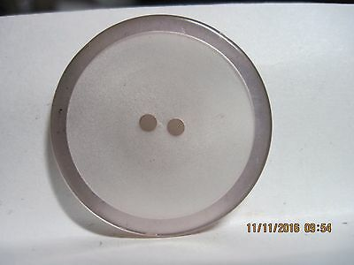 Vintage 20Th Century Large Silvery Pearl Moonglow 'Inlaid' Laminate Button