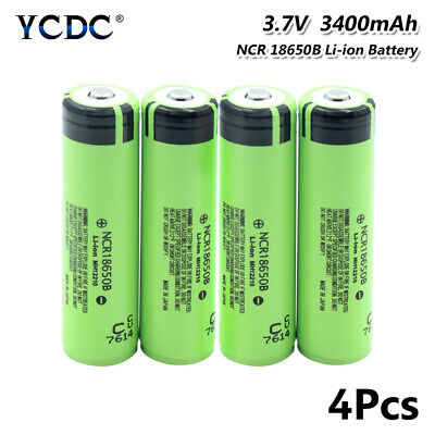 4X 20A High Drain Ncr 18650 Battery Rechargeable 3.7V 3400Mah For Vape E-Cig 62