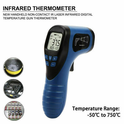 -58℉ to 1382℉ Digital Infrared Temperature Laser Thermometer Non-Contact IR Gun
