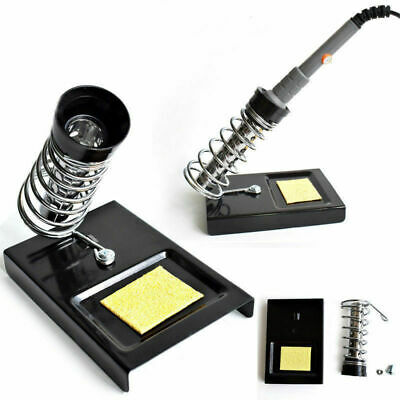 New Portable Detachable Soldering Iron Holder Stand With Sponge Spring Base