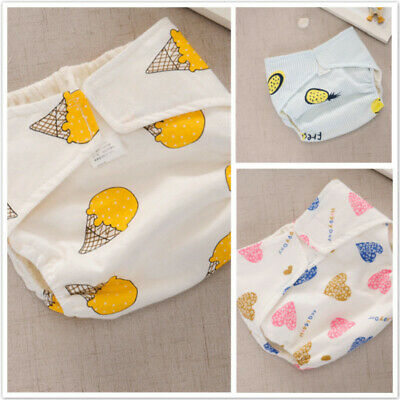 Washable Waterproof Cloth Diaper Cover Cartoon Baby Diapers Reusable Nappy LG