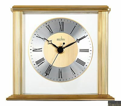 ACCTIM Hamilton Mantel Clock with Floating Effect Metal Dial | Brass Effect