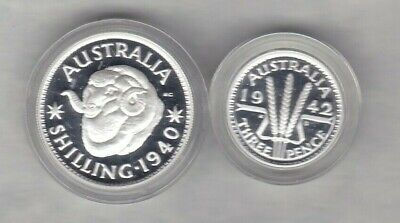 Two 1999 Australia Silver Proof Coins In Mint Condition + Capsules