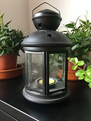 Metal Candle Lantern Tealight Holder Vintage French Moroccan Style 20cm