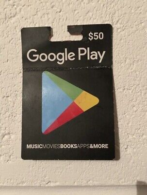 Google Play Gift Card ~ $50 ~ GOT TO GO ~ Expires Late September 2019