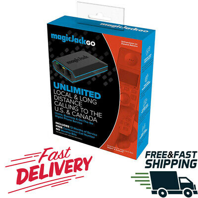 Magic Jack Go service Free 12 Months Latest Model Plus Phone Digital Business US