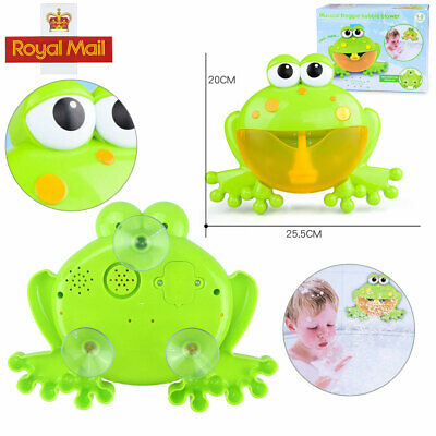 Toys Bubble Machine Tub Crab Frog Automatic Bubble Maker Blower Songs Music Bath