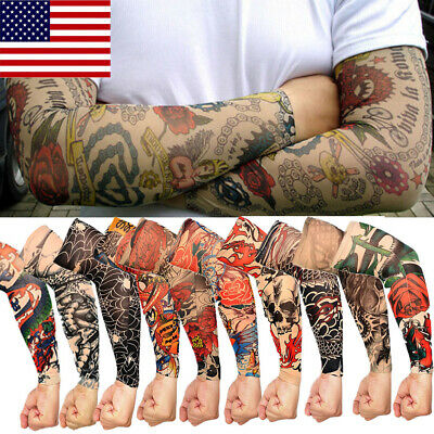 Tattoo Cooling Arm Sleeves Cover Basketball Golf Sport UV Sun Protection 1 pcs