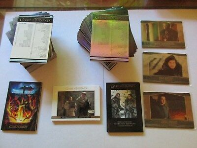 Game of Thrones Season 7 Mini-Master Set Foils WINTER Series Seven No Binder Pks