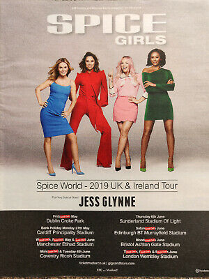 SPICE GIRLS - Spice World UK & Ireland Tour 2019 Magazine Advert Picture