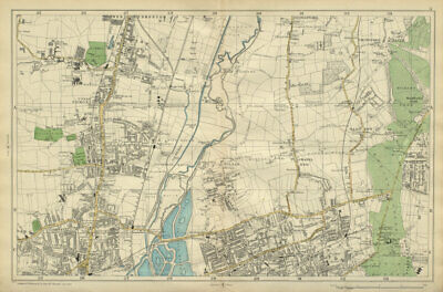 TOTTENHAM WALTHAMSTOW EDMONTON Chingford Hale End Epping Forest BACON 1900 map