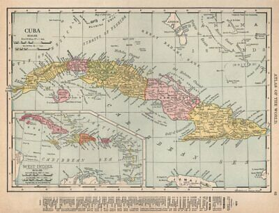 Cuba showing provinces. RAND MCNALLY 1912 old antique vintage map plan chart