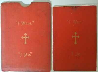 """Booklet in sleeve - """"I Will""""  """"I Do"""" A Momento of Confirmation by Rev. E. Fowle."""