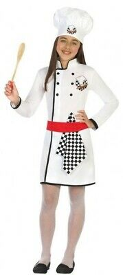 Girls Top Chef Cook Occupation Job Carnival Fancy Dress Costume Outfit 3-12 yrs