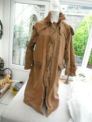 "Mens waxed long Vintage coat by Harry Brown XL 44"" chest Ideal Country"