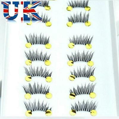 10Pair Soft Black Natural Half Mini Corner Winged False Eyelashes Eye Lash