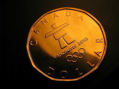 Canada 2010  Commemorative $1 Coin Lucky Loonie Vancouver Olympics DJ33.