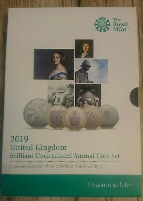 2019 Royal Mint Annual Brilliant Uncirculated 13 Coin Set Still Mint Sealed