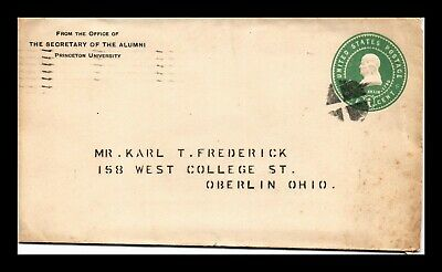 Dr Jim Stamps Us Princeton University Embossed Cover Inverted Cross Cancel