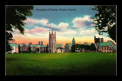 Dr Jim Stamps University Of Toronto Linen Colourpicture Postcard Canada