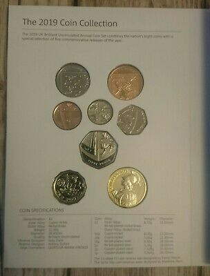 2019 Royal Mint Annual 8 Coin Set. Brilliant Uncirculated