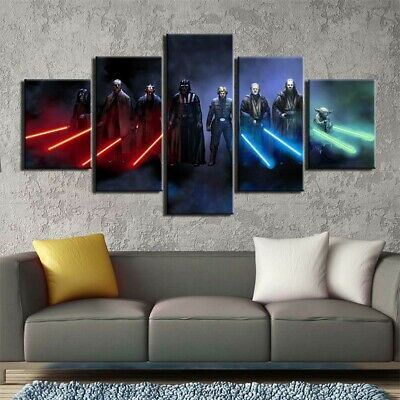 5 pieces Star Wars Canvas Art Painting Movie Poster Home Wall Room Artwork Decor