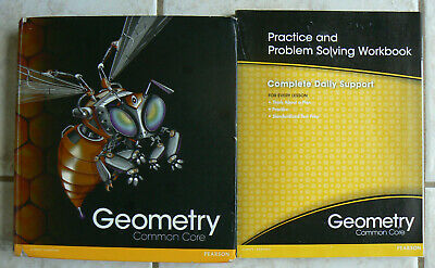 Pearson enVision GEOMETRY, 2012 HC text & NEW workbook, Common Core Math