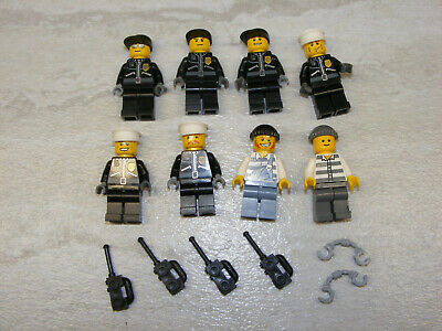 vintage police figures weapons halo swat team 7 Lego Army Soldiers Minifigs Lot