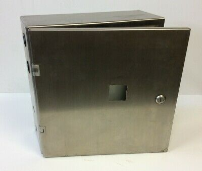 "Hammond 2S16166 Stainless Steel Electrical Control Panel Enclosure 16""x 16""x 6"""