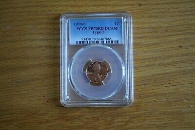 "1979-S 1C Lincoln Proof Cent PCGS PR70RD DCAM - TYPE 1 ""Pop 18"""