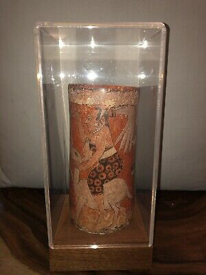 Antique Authentic Mayan Polychrome Vase From Guatemala