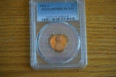 "1982-S 1C Lincoln Cent Proof PCGS PR70RD DCAM ""Top Grade"" Pop 33"