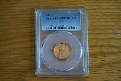 "1981-S 1c Type 1 Lincoln Cent PR70RD DCAM PCGS Proof 70 Red Deep Cameo ""Pop 27"""