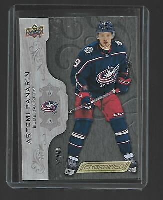 Artemi Panarin 2018/19 UD Engrained Black 21/49 Columbus Blue Jackets SP