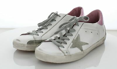 b3ed543e4 02-20 Golden Goose Deluxe Brand Superstar White Leather Sneakers Womens Sz  41 M