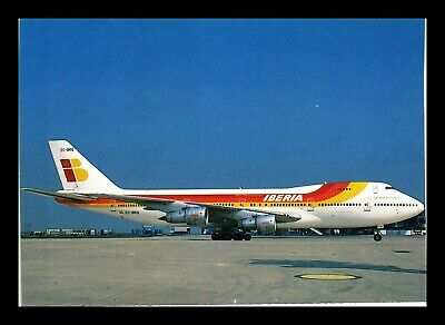 Dr Jim Stamps Iberia Boeing Airplane Transportation Continental Size Postcard