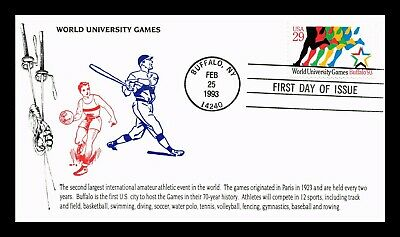 Dr Jim Stamps Us World University Games Fdc Cover Buffalo New York