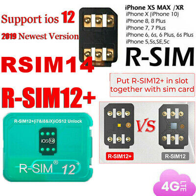 RSIM 14 12+ 2019 R-SIM Nano Unlock Card for iPhone X/8/7/6/6s/5S 4G iOS 12.3 Lot