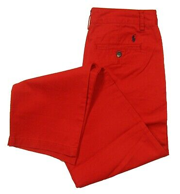 Polo Ralph Lauren Boys Red Cotton Chino Pants