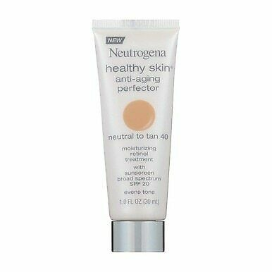 2 Pack Neutrogena Healthy Skin Anti-Aging Perfector, Neutral to Tan 40, SPF 2...